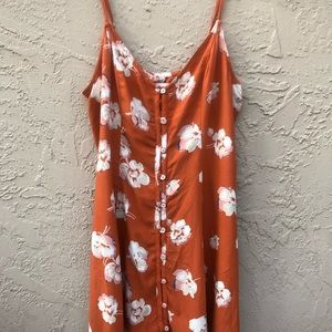 Orange Floral Mini Dress | Abercrombie & Fitch